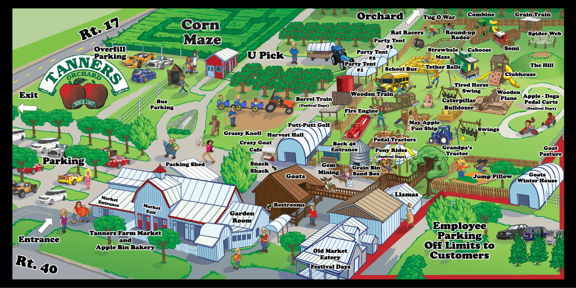 Map of Tanners Orchard