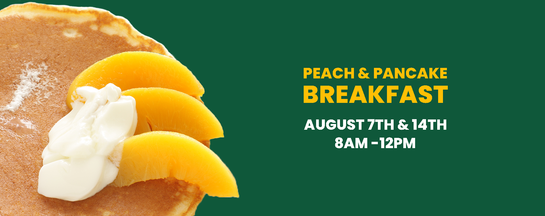 Peach and Pancake Breakfast