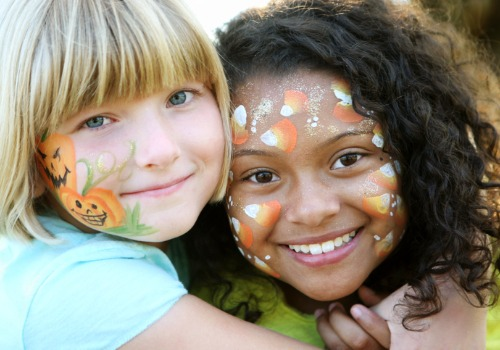 Kids sporting fall face paint from one of our Festival Days